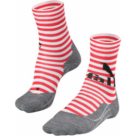Falke RU4 Sokker Damer, grå/rød